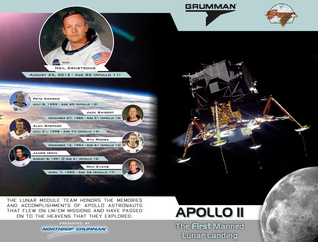 Northrop Grumman - Lunar Module Team Reunion Program - Exterior Spread