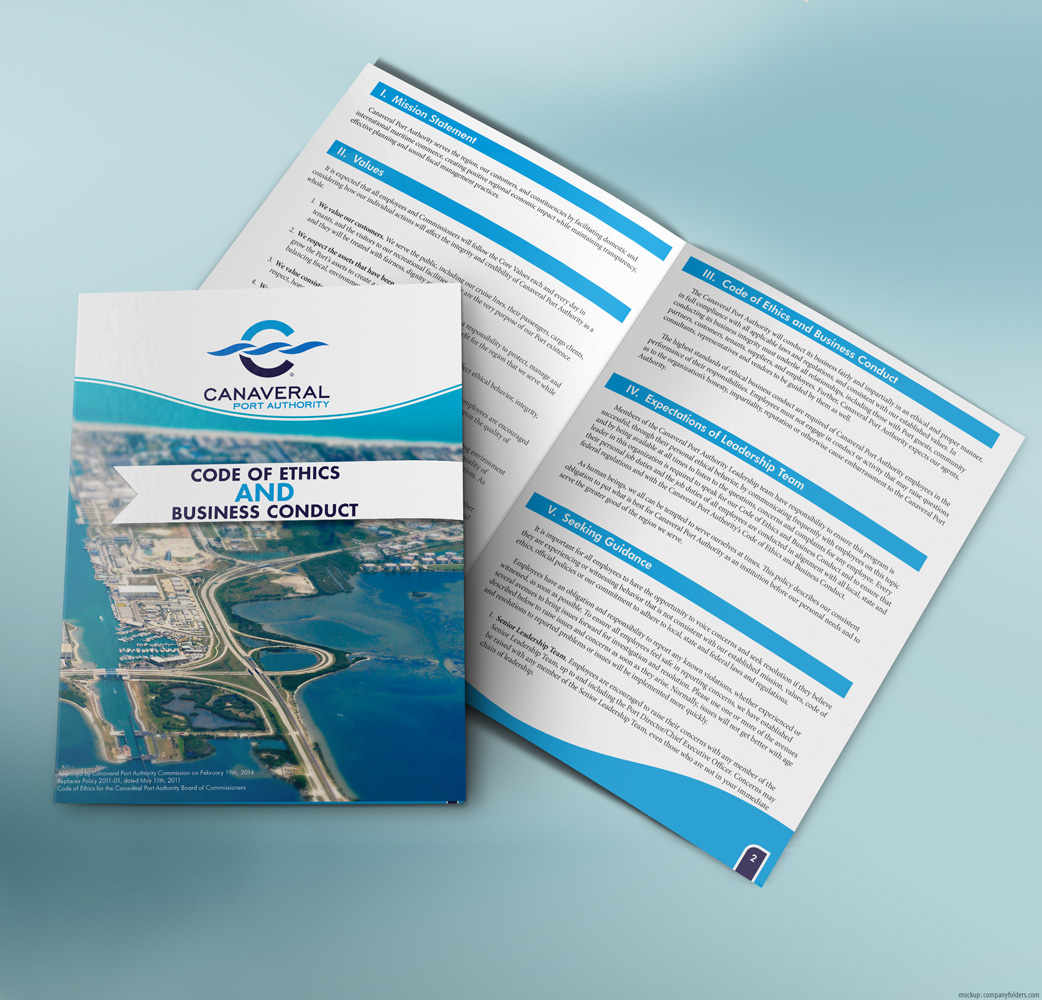Canaveral Port Authority - Code of Ethics Book - Mockup