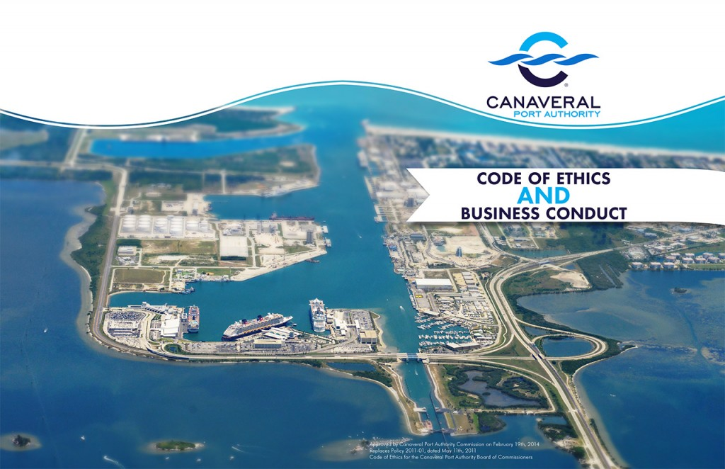 Canaveral Port Authority - Code of Ethics Book - Cover, Alt 1
