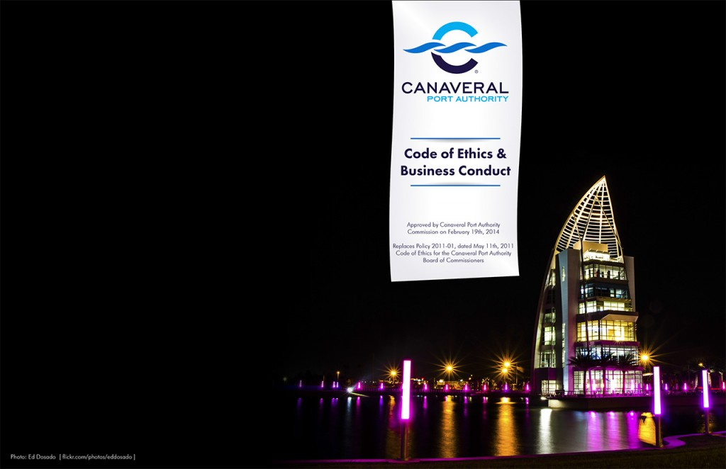 Canaveral Port Authority - Code of Ethics Book - Cover, Alt 3