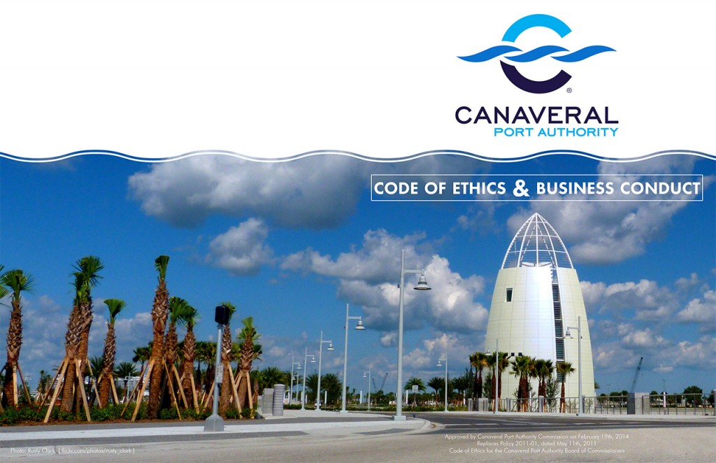 Canaveral Port Authority - Code of Ethics Book - Cover, Alt 4
