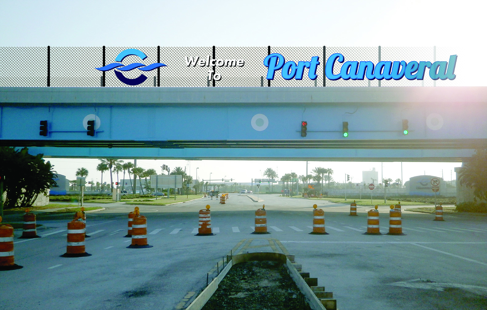 Canaveral Port Authority - Overpass Signage - Site 1 - Design 1, Entering
