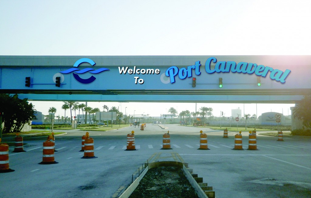 Canaveral Port Authority - Overpass Signage - Site 1 - Design 2, Entering