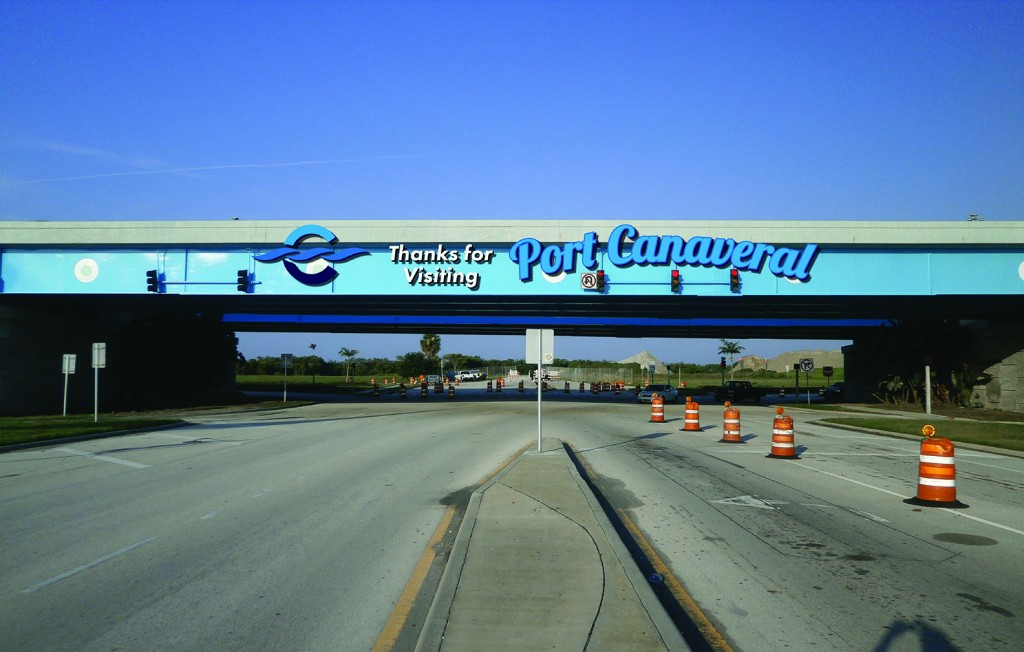 Canaveral Port Authority - Overpass Signage - Site 1 - Design 2, Leaving