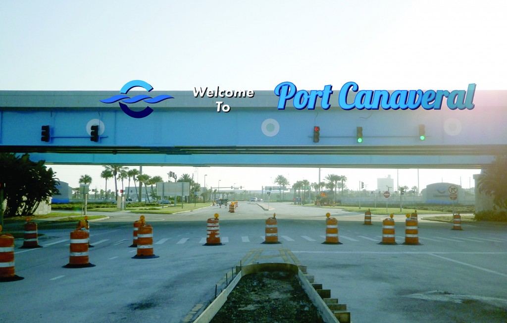 Canaveral Port Authority - Overpass Signage - Site 1 - Design 3, Entering