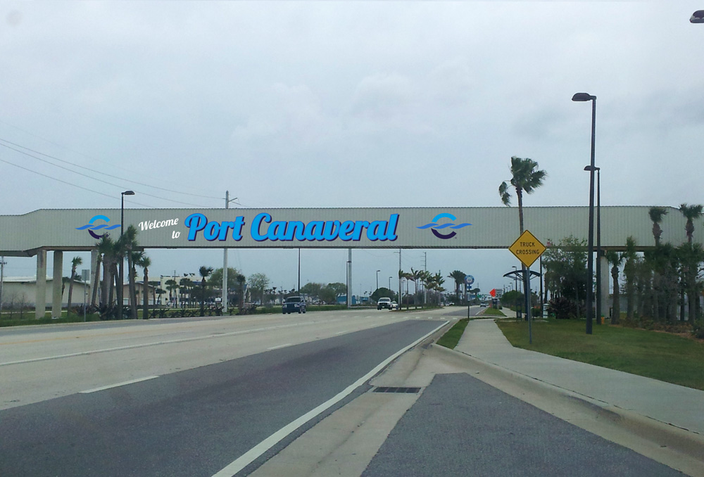 Canaveral Port Authority - Overpass Signage - Site 2 - Design 1, Entering
