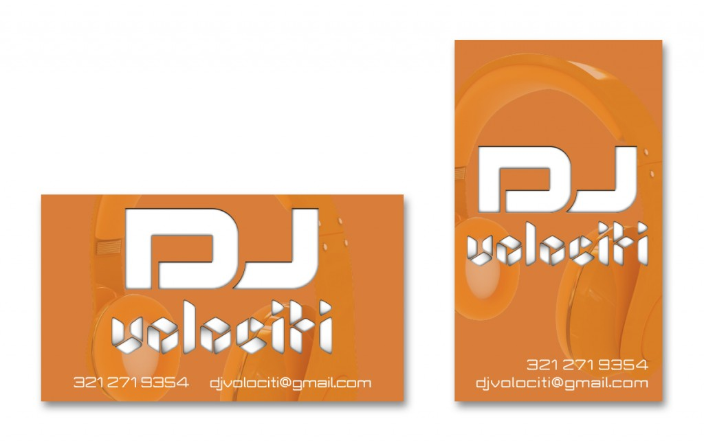 DJ Volociti - Business Card - Alternate 1