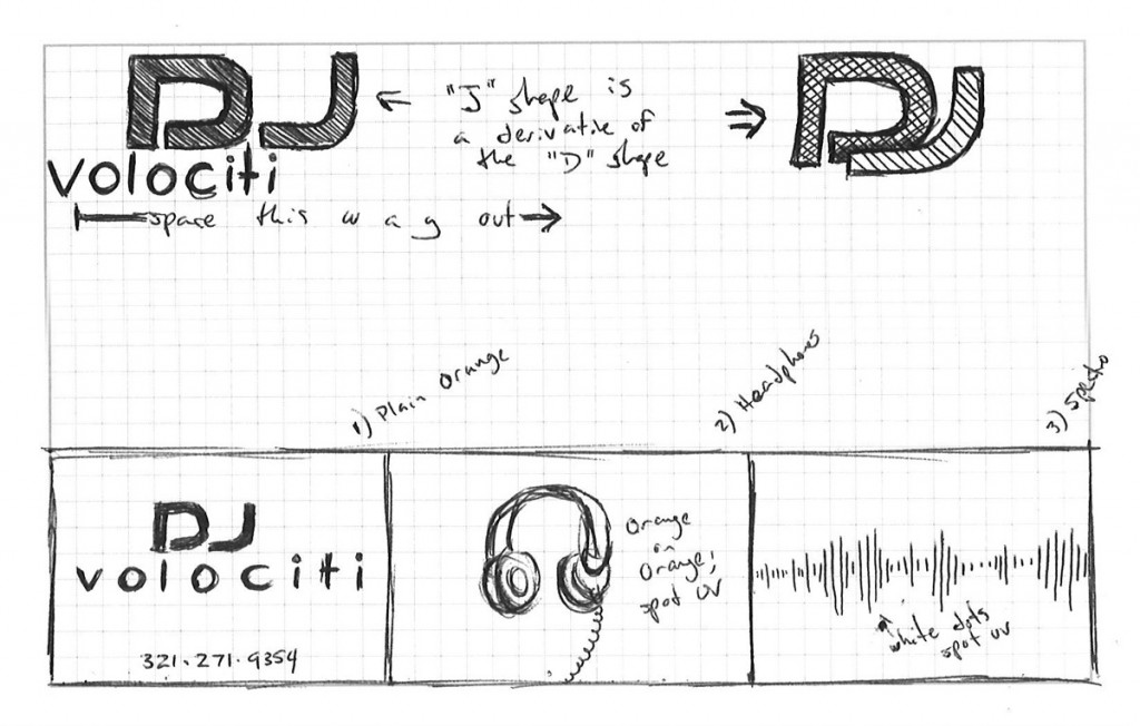 DJ Volociti - Logo - Sketches