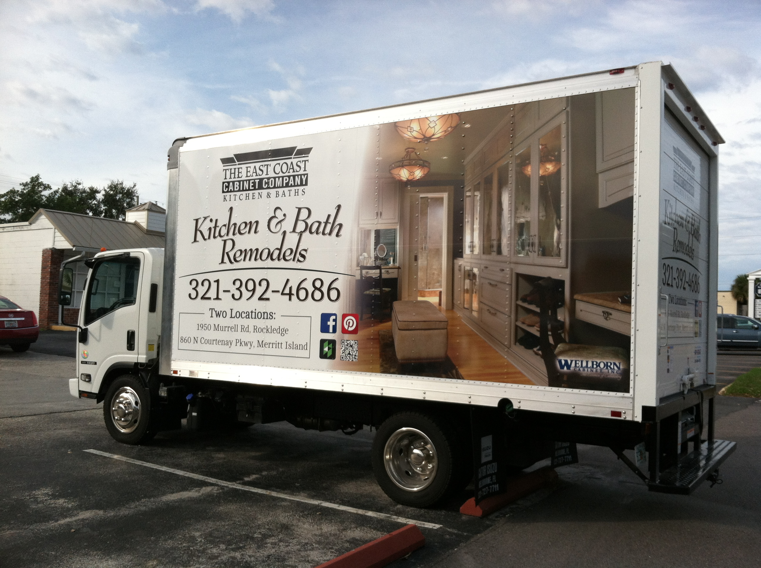 East Coast Cabinet Co - Truck Wrap - Complete, Driver
