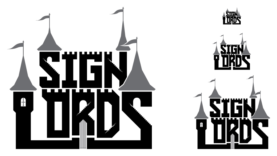 Sign Lords - Logo - Grayscale