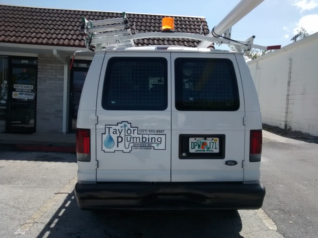 Taylor Plumbing - Vehicle Graphics - Complete - Back