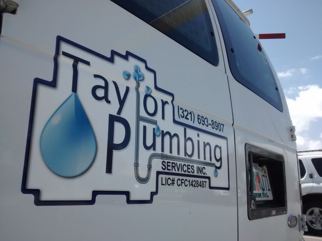 Taylor Plumbing - Vehicle Graphics - Complete - Back, Detail