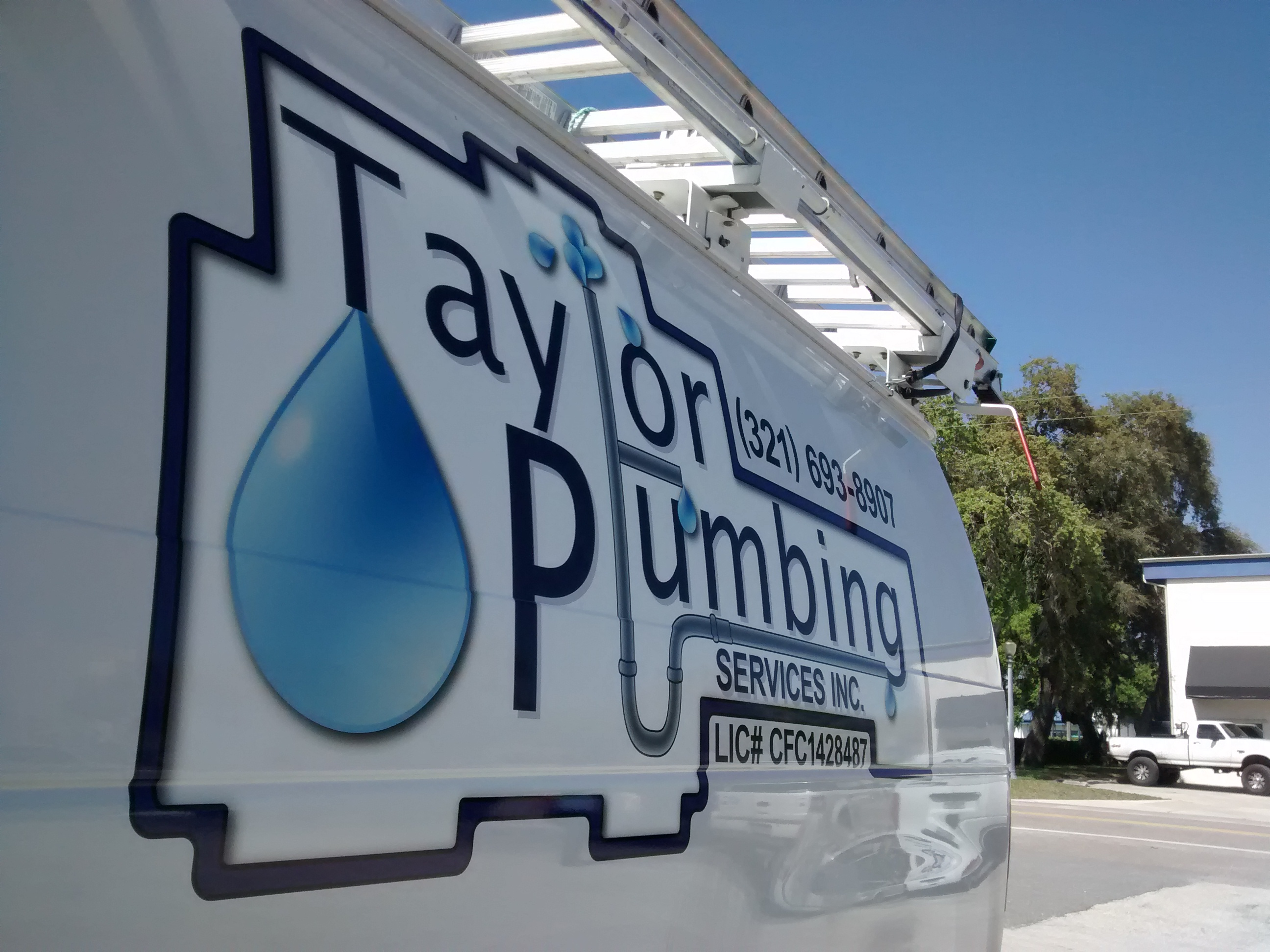 Taylor Plumbing - Vehicle Graphics - Complete - Driver, Detail