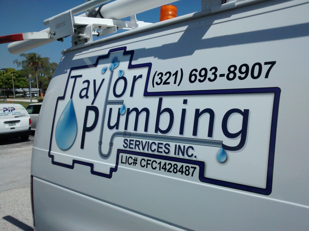Taylor Plumbing - Vehicle Graphics - Complete - Passenger, Detail