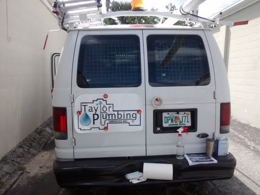 Taylor Plumbing - Vehicle Graphics - In Progress - Back