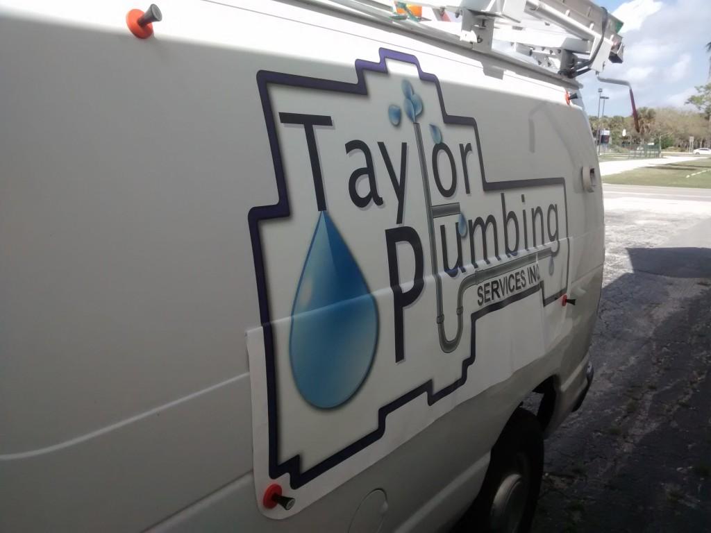 Taylor Plumbing - Vehicle Graphics - In Progress - Driver