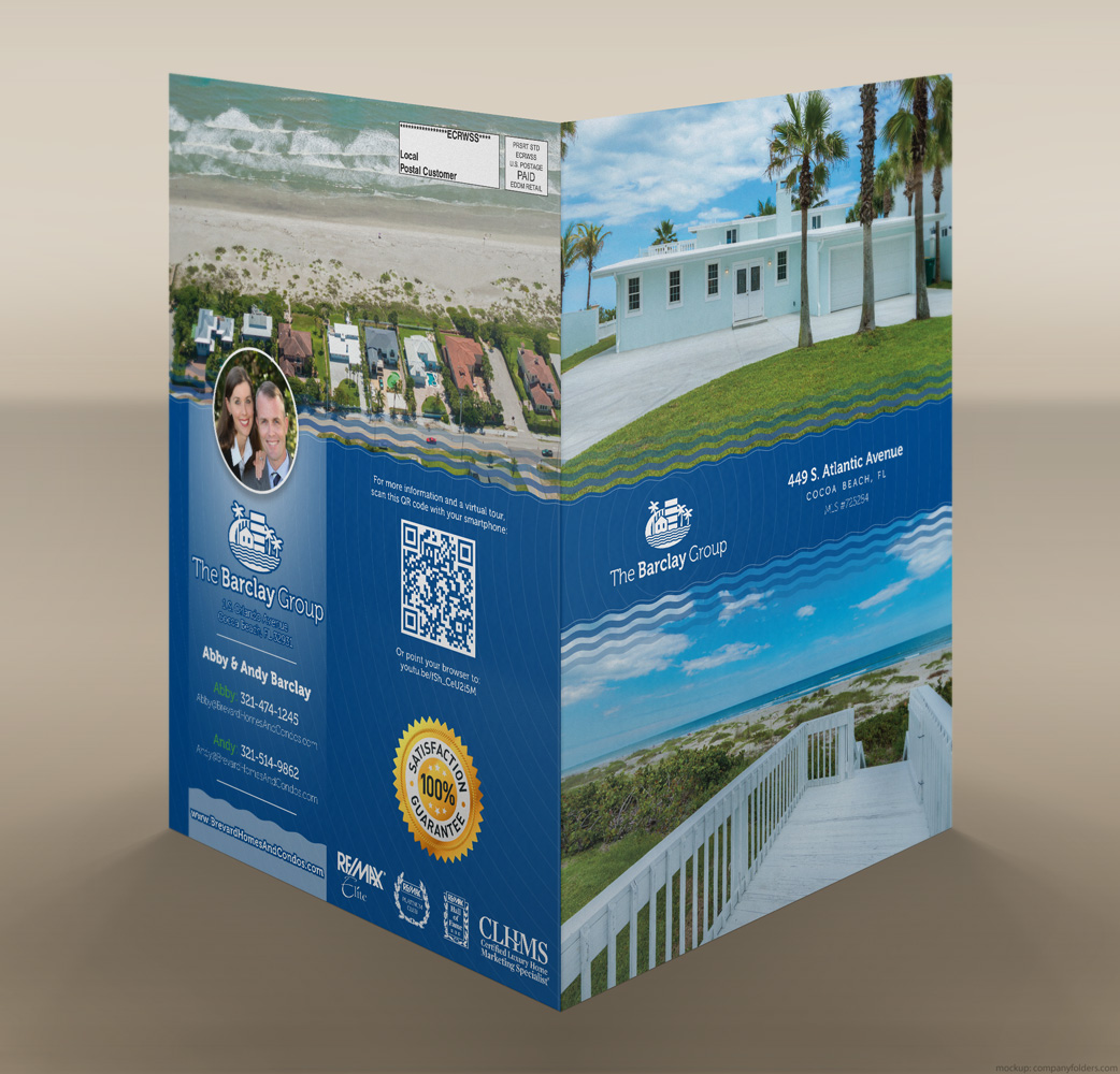 The Barclay Group - Four Page Mailer - Mockup